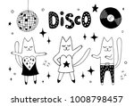 cat friends dancing disco in... | Shutterstock .eps vector #1008798457