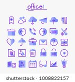 office 1 linear icons collection   Shutterstock .eps vector #1008822157