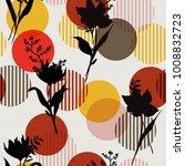 vector botanic black silhouette ... | Shutterstock .eps vector #1008832723