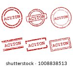 action stamps on white | Shutterstock .eps vector #1008838513