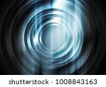abstract tech glowing blue... | Shutterstock .eps vector #1008843163
