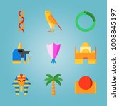icon set about egypt with... | Shutterstock .eps vector #1008845197