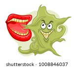 bad smell from mouth isolated... | Shutterstock .eps vector #1008846037