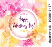 valentine's day greeting card... | Shutterstock .eps vector #1008849457