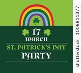 st. patricks day vector party... | Shutterstock .eps vector #1008851377