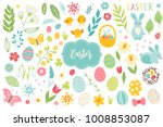 set of easter design elements.... | Shutterstock .eps vector #1008853087