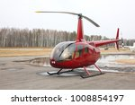 aircraft   small red helicopter ... | Shutterstock . vector #1008854197