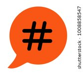 hashtag sign icon vector... | Shutterstock .eps vector #1008858547
