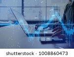 financial technology concept. | Shutterstock . vector #1008860473