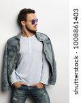 elegant young handsome manin... | Shutterstock . vector #1008861403