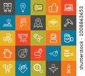 technology outline vector icon... | Shutterstock .eps vector #1008863653