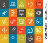technology outline vector icon... | Shutterstock .eps vector #1008863713