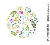 round banner  greeting card ... | Shutterstock .eps vector #1008866173