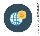 world browser coin  | Shutterstock .eps vector #1008870703