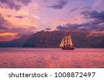 Sailboat In Santorini  Greece....