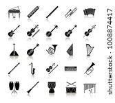musical instruments drop shadow ... | Shutterstock .eps vector #1008874417