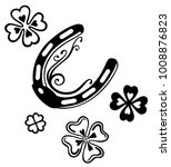 horseshoes with clover. symbol...   Shutterstock .eps vector #1008876823