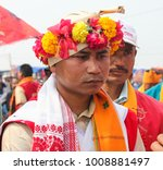 Small photo of 20th January 2018, Marigaon, Assam, India. Gobha King Deep Singh arrived at Jonbeel Mela. Jonbeel Mela is a rare festival where practice a barter system for exchanging agricultural products.