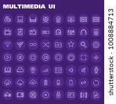 big multimedia icon set   Shutterstock .eps vector #1008884713