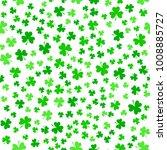 bright green clover leaves ... | Shutterstock .eps vector #1008885727