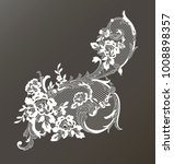 lace ornate element. vector...   Shutterstock .eps vector #1008898357