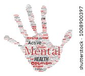 vector conceptual mental health ... | Shutterstock .eps vector #1008900397