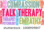 talk therapy word cloud on a... | Shutterstock .eps vector #1008909847
