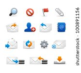 Professional e-mail Icons - Set 3 of 3 // Soft Series - stock vector