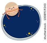 cute cartoon jupiter  vector... | Shutterstock .eps vector #1008919243