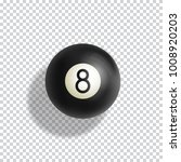 billiards eight ball realistic... | Shutterstock .eps vector #1008920203