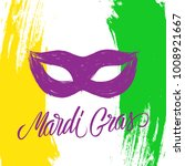 mardi gras celebrate card with... | Shutterstock .eps vector #1008921667