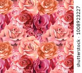roses pattern.watercolor... | Shutterstock . vector #1008923227