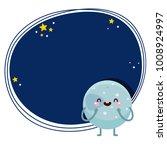 cute cartoon pluto  planet ... | Shutterstock .eps vector #1008924997