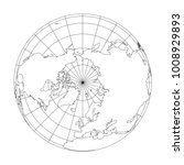 outline earth globe with map of ... | Shutterstock .eps vector #1008929893