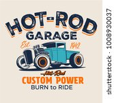 vector hot rod truck... | Shutterstock .eps vector #1008930037