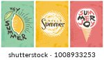 hello summer seasonal banners... | Shutterstock .eps vector #1008933253