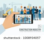 professional construction... | Shutterstock .eps vector #1008934057
