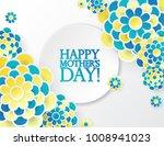 elegant floral background with... | Shutterstock .eps vector #1008941023