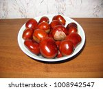 Shiny Chestnuts In A Plate