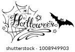 halloween lettering with spider ...   Shutterstock .eps vector #1008949903