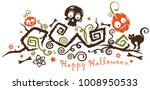 halloween ornament with monster ...   Shutterstock .eps vector #1008950533