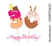happy birthday card. festive...   Shutterstock .eps vector #1008953623