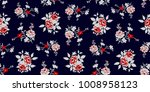 seamless floral pattern in... | Shutterstock .eps vector #1008958123