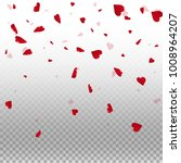 3d hearts. top gradient on... | Shutterstock .eps vector #1008964207