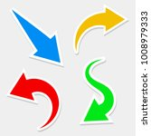 arrows icons graphic  stock... | Shutterstock .eps vector #1008979333