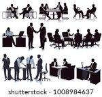 meeting in the office ... | Shutterstock . vector #1008984637