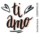 happy valentine lettering ti... | Shutterstock .eps vector #1008990133