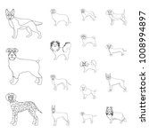 dog breeds outline icons in set ... | Shutterstock .eps vector #1008994897
