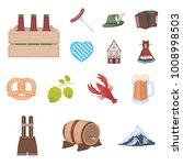 october festival in munich... | Shutterstock .eps vector #1008998503