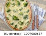 casserole diet with broccoli... | Shutterstock . vector #1009000687